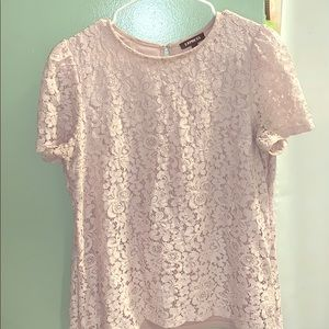 Pretty pink lace Express top